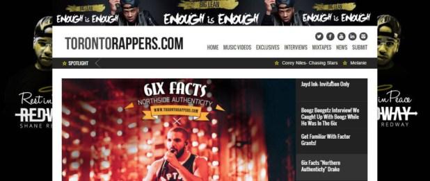 torontorappers.com toronto hip hop blogs