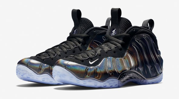 In-Hand Sneaker Review Foamposite One Hologram 4