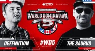 KOTD Rap Battle - Deffinition vs The Saurus