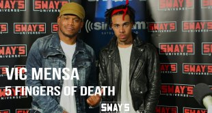 Vic Mensa 5 Fingers of Death freestyle on Sway in The Morning