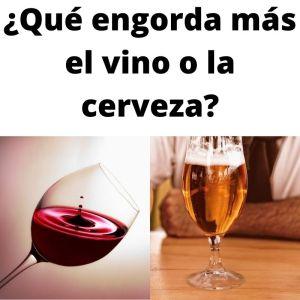 El vino engorda