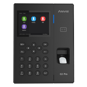 Anviz C2 Pro Bangladesh Anviz W1 Colour Screen Fingerprint & RFID Clocking in Machine