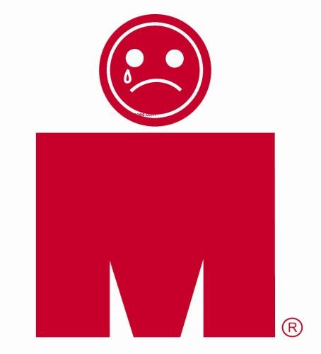 Ironman logo sad