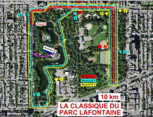 Parcours de la Classique du Parc Lafontaine 2012