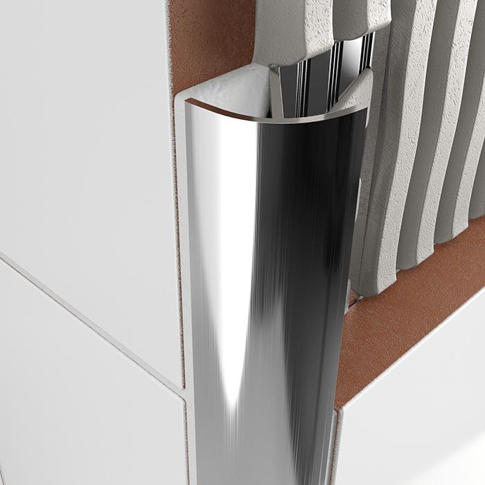 atrim stainless steel round edge trim