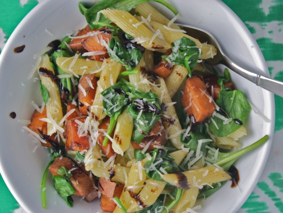 12. Balsamic Glazed Sweet Potato Pasta