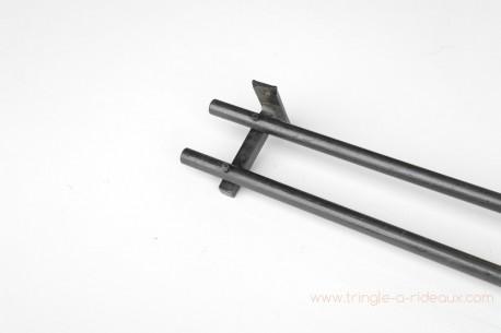 tringle a rideaux droite double o 1 6 cm