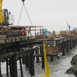 Pier under construction