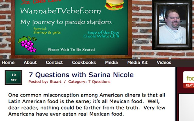 """Check Me Out In WannaBeTVChef's """"7 Questions With Sarina Nicole""""!"""