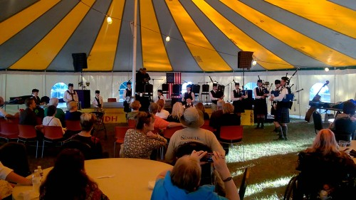 Performing under the main tent to a packed crowd