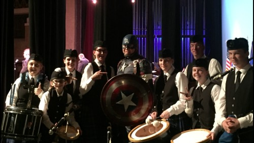 Backstage with Captain America!