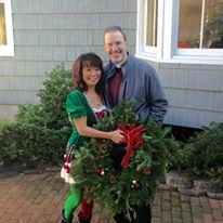 Fr. Bartolomeo and elf (Mrs. Bartolomeo) ...