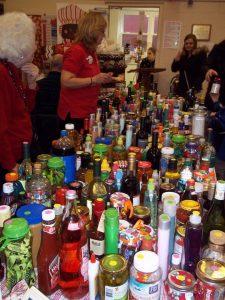 The famous bottle table ...