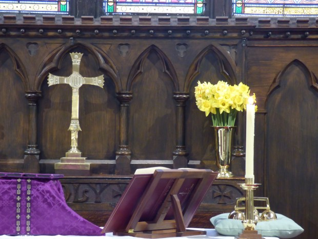 Trinity's altar on Mothering Sunday