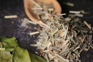 Dried lemongrass & lime leaves