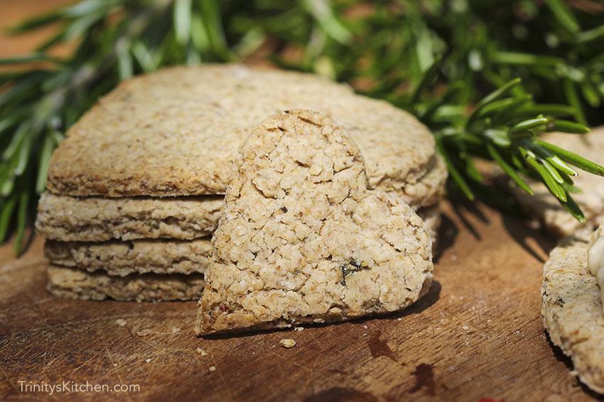 Rosemary oatcakes - a wheat free cracker by Trinity