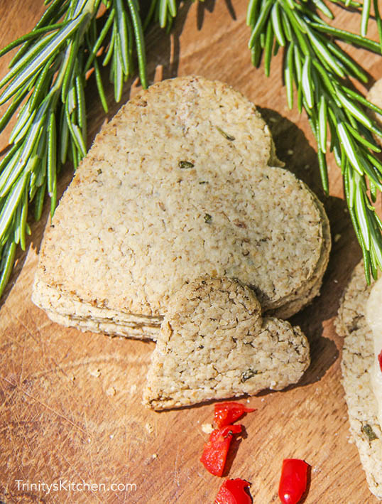 Rosemary oatcakes - a wheat free cracker by Trinity Bourne