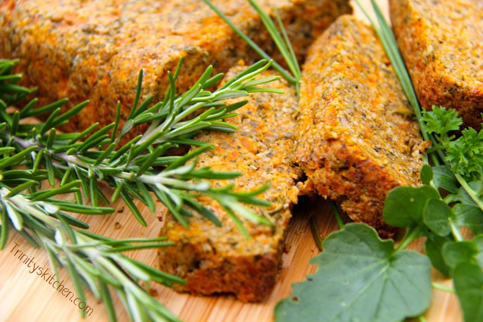 'Seed & Carrot Roast Loaf' - gluten-free, vegan (with video)