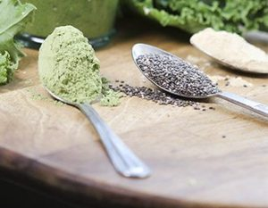 Green superfoods spoons by Trinity