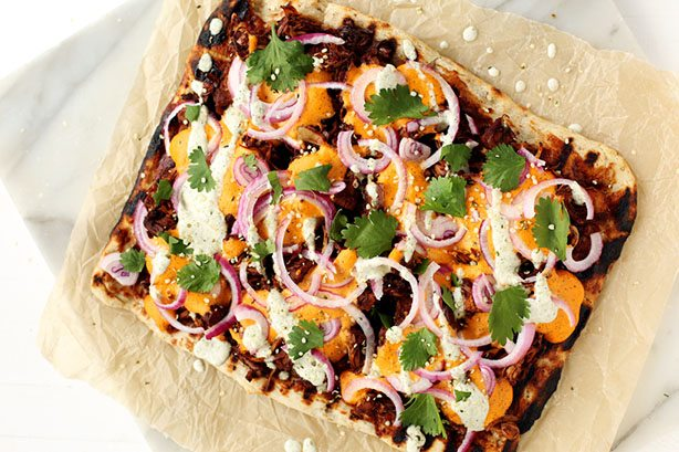 BBQ-Jackfruit-Pizza-by Blissful Basil