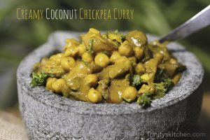 Chickpea curry by Trinity Bourne
