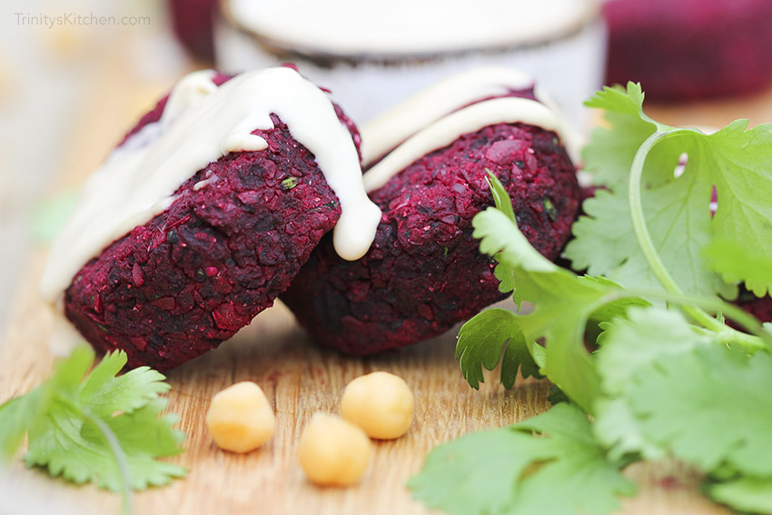 Roast Beetroot Falafels - easy gluten-free vegan deliciousness