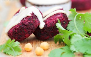 Beetroot falafel recipe by Trinity - gluten-free vegan