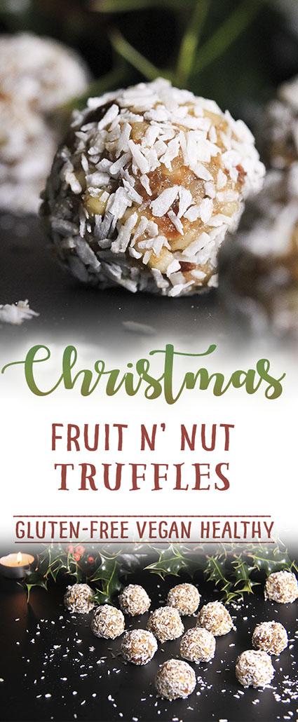 Christmas fruit n'nut truffles - naturally #vegan #glutenfree #norefinedsugar