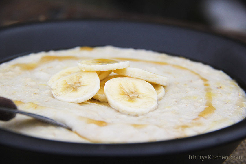 Creamy Coconut & Banana Porridge - vegan gluten-free
