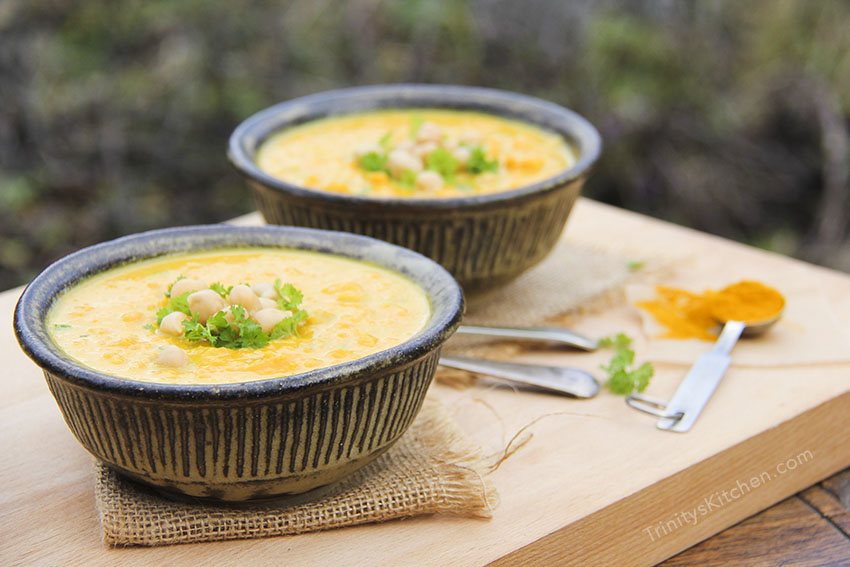 Turmeric & Ginger Sweet Potato Soup with Coconut Milk