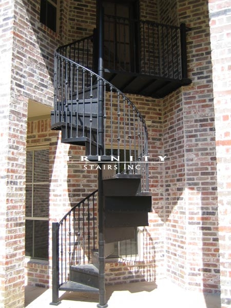 Spiral Stairstrinity Stairs   10 Ft Spiral Staircase   Arke Eureka   Balcony Railing   Lowes   Gray Interior   Attic Staircase