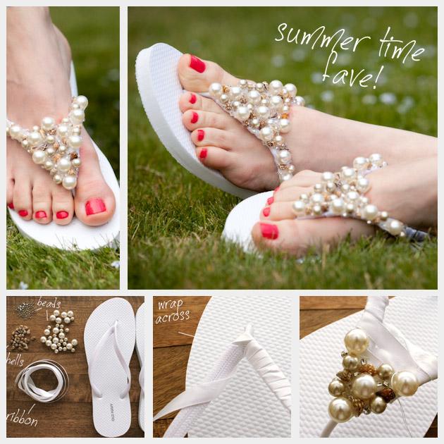 Flip flops frisado DIY