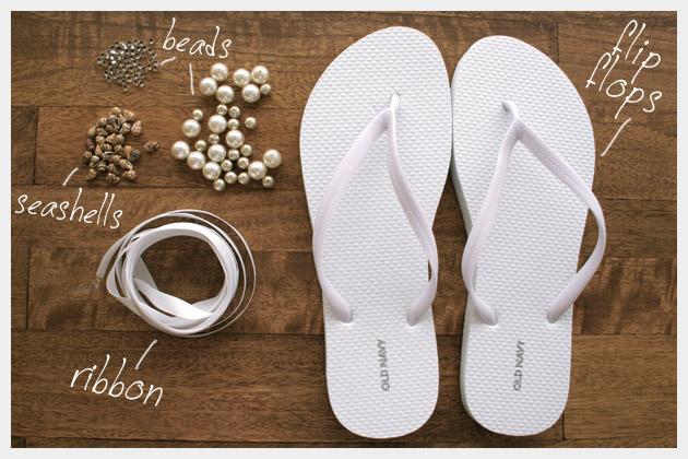 DIY frisado sandálias de verão