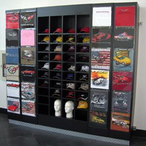 t shirt display trio display