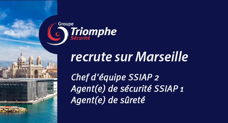 Le Groupe Triomphe Sécurité recrute sur Marseille, CDI, temps plein ou partiel