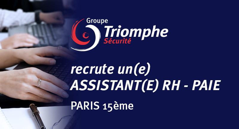 OFFRE D'EMPLOI : ASSISTANTE RH PAIE – PARIS 15EME