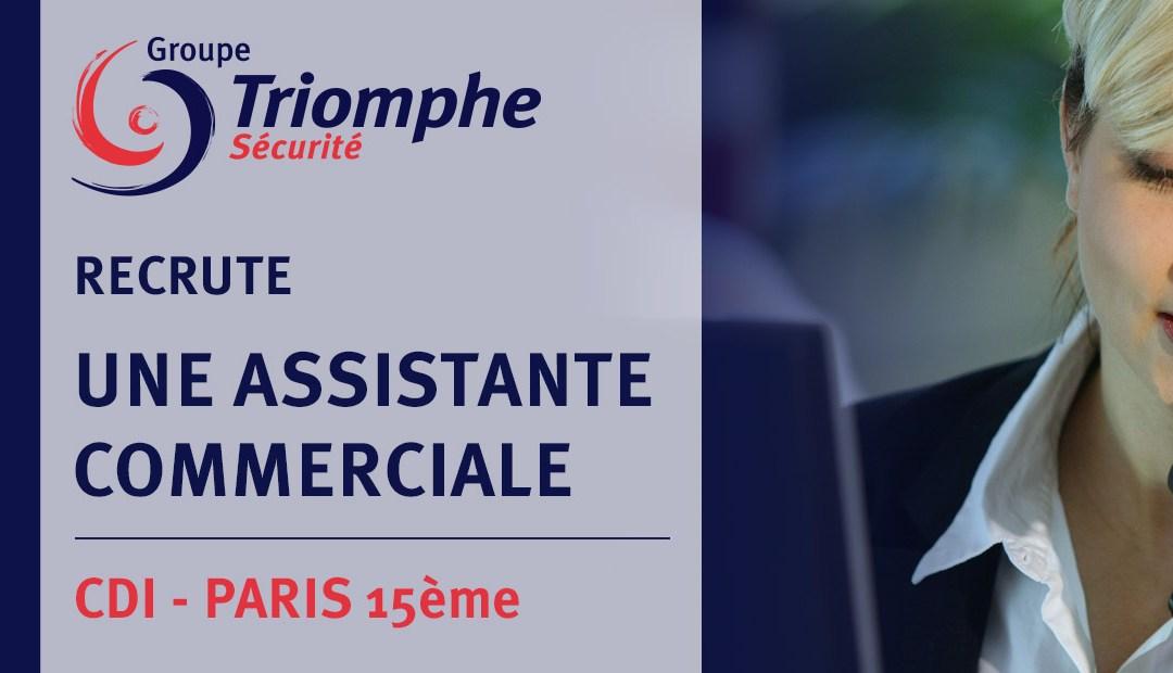 OFFRE D'EMPLOI : ASSISTANTE COMMERCIALE – PARIS
