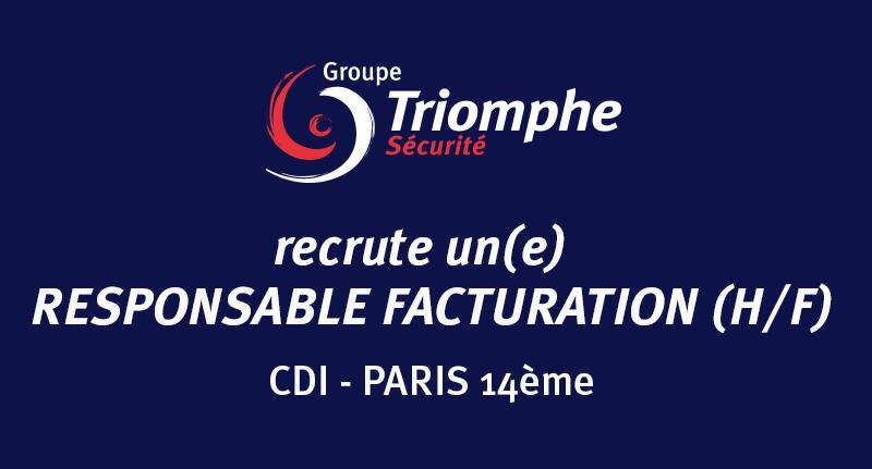 OFFRE D'EMPLOI : RESPONSABLE FACTURATION EN CDI A PARIS