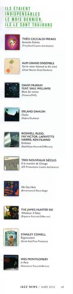 Jazz News 03 18