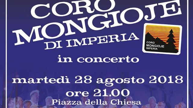 CORO MONGIOJE a TRIORA in Concerto martedì 28 Agosto