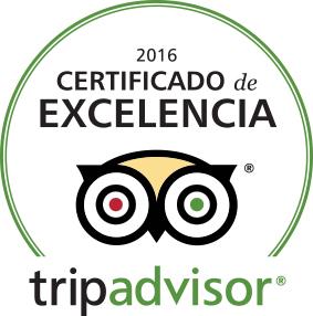 Certificado de Excelencia Tripadvisor 2016