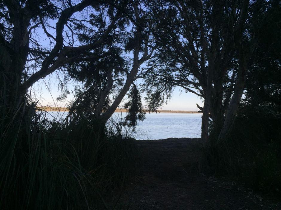 Vue au camping sur le lac