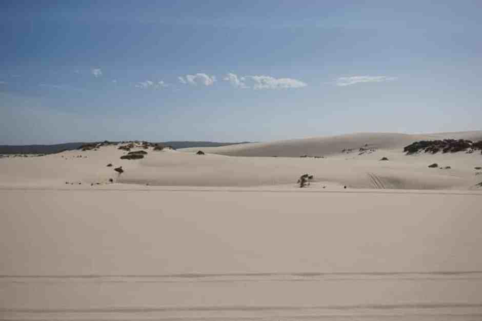 On se croirait dans le désert, c'est somptueux