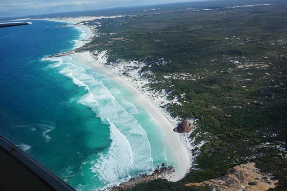 cap-le-grand-beach-from-plane