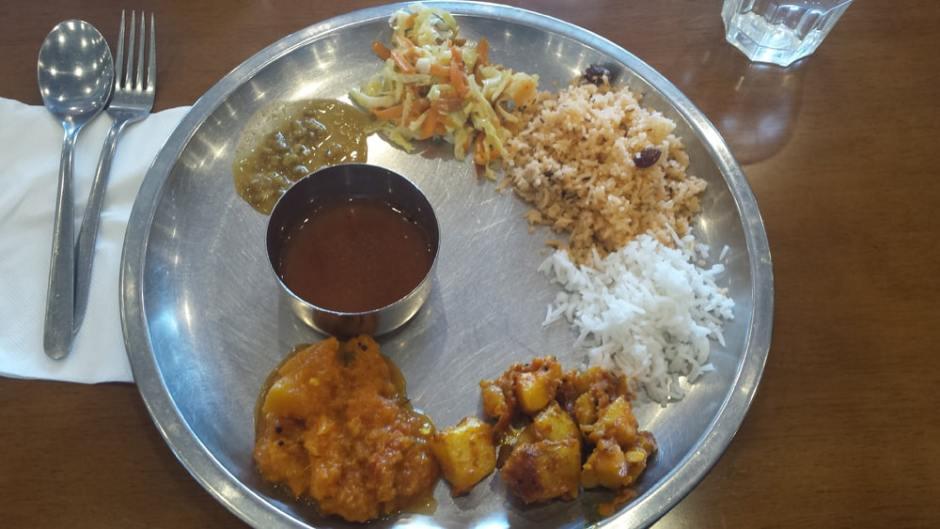 Buffet à volonté à l'Analakshmi Restaurant