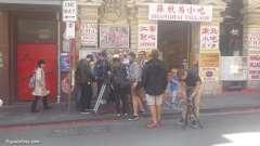 China Town, en plein tournage