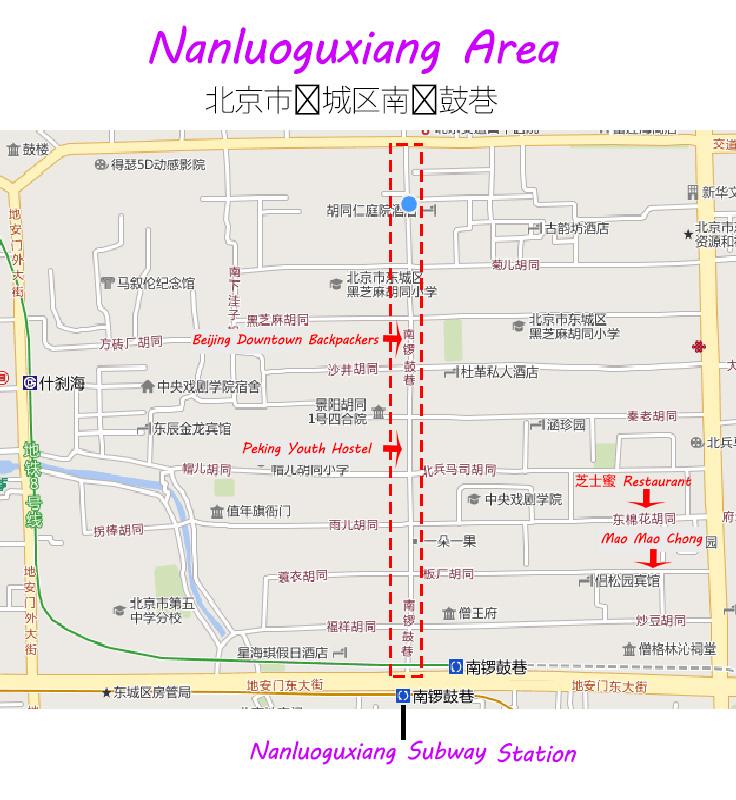 Nanluoguxiang area in Beijing