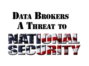 Data brokers a threat to national secuity