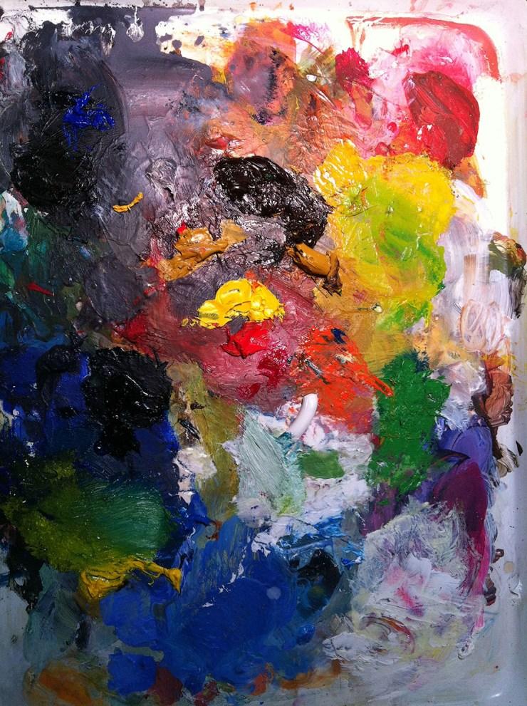 Artist palette by Jean Tripier