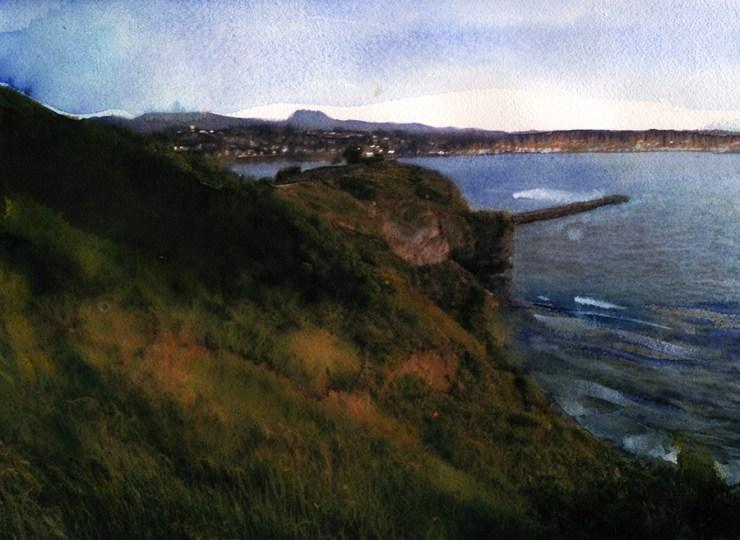 Surf art: The Bay of Saint Jean de Luz
